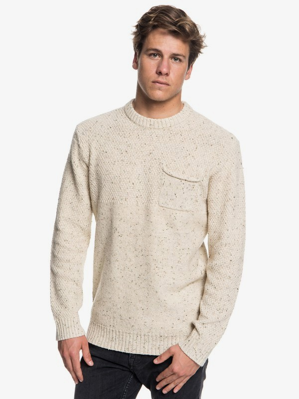 0 Newchester - Jersey para Hombre Beige EQYSW03164 Quiksilver