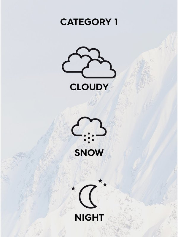 Storm Bad Weather - Snowboard/Ski Goggles for Men  EQYTG03074