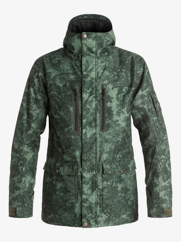 0 Dark And Stormy - Snow Jacket Brown EQYTJ03059 Quiksilver