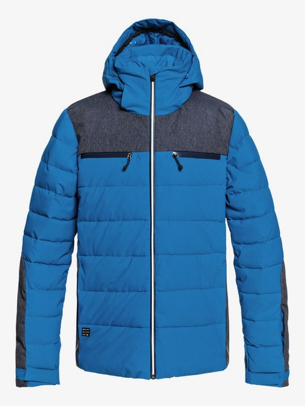 0 The Edge - Puffer Snow Jacket for Men Blue EQYTJ03174 Quiksilver