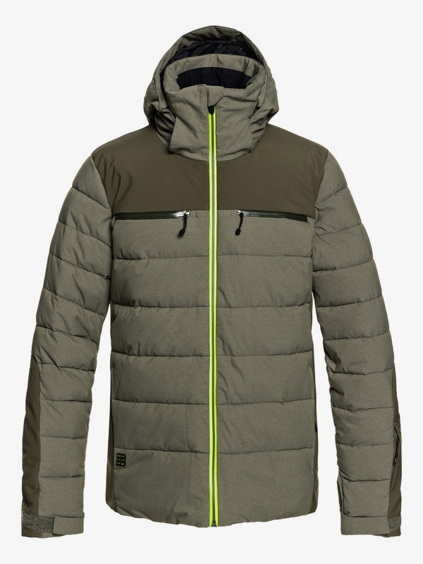 0 The Edge - Puffer Snow Jacket for Men Brown EQYTJ03174 Quiksilver