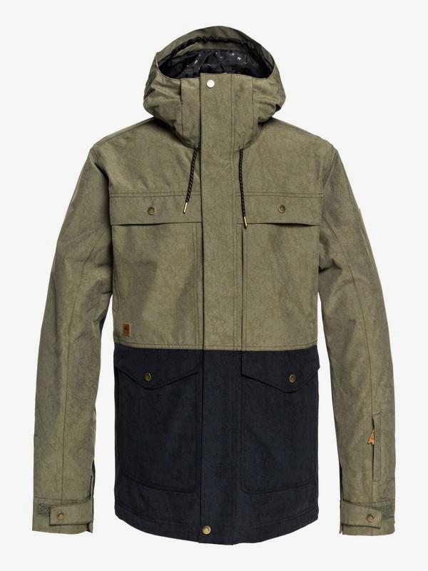 0 Horizon - Military Snow Jacket for Men Brown EQYTJ03177 Quiksilver