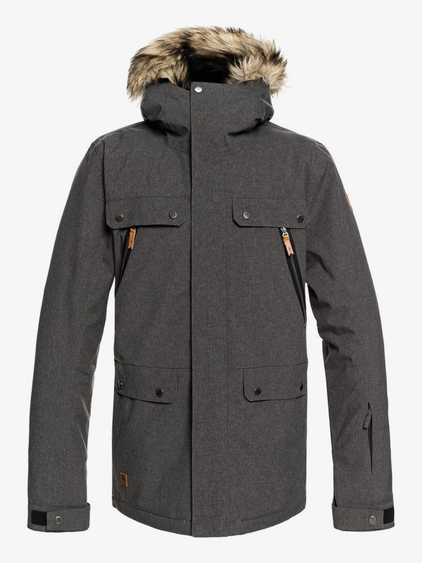 0 Selector - Snow Jacket for Men Black EQYTJ03178 Quiksilver