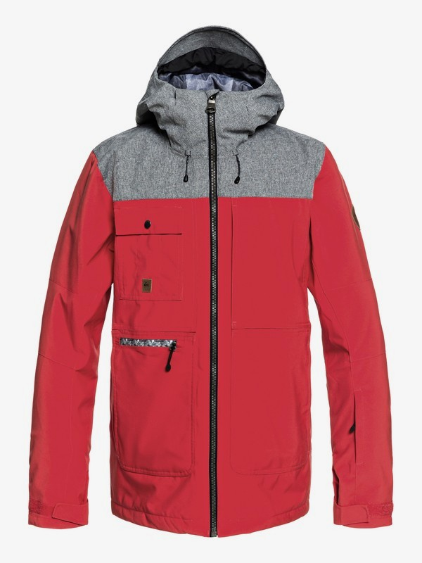 0 Arrow Wood - Snow Jacket for Men Red EQYTJ03191 Quiksilver