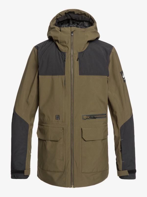 0 Arrow Wood - Snow Jacket for Men Brown EQYTJ03212 Quiksilver