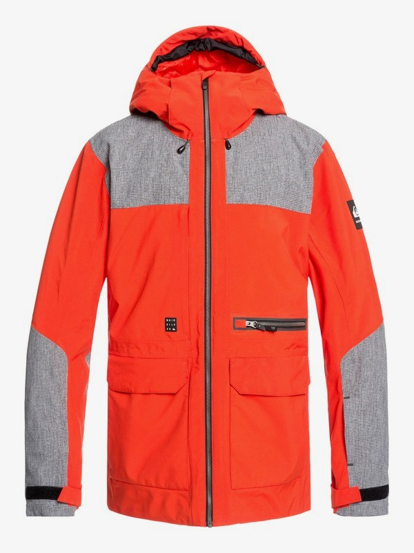0 Arrow Wood - Snow Jacket for Men Orange EQYTJ03212 Quiksilver