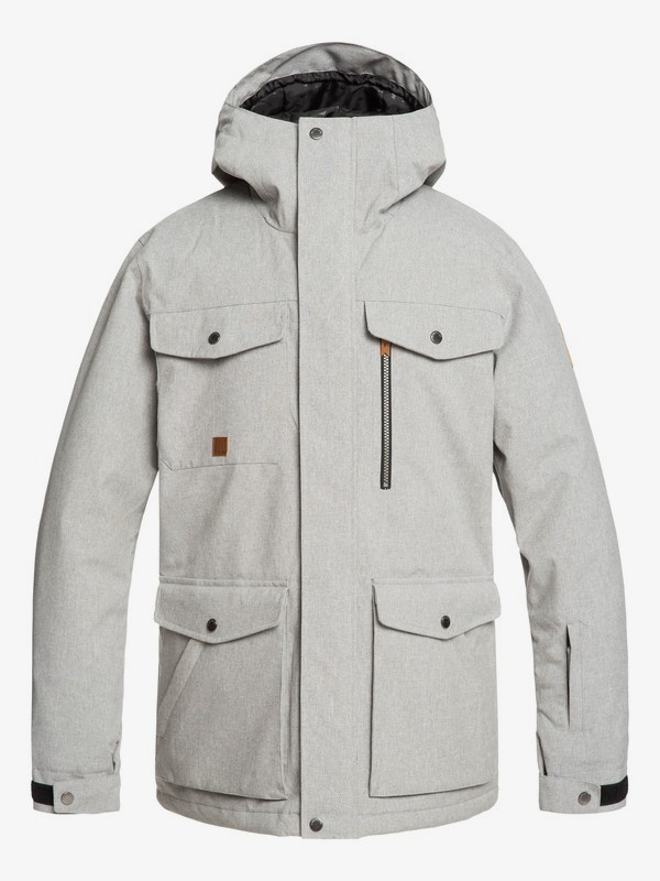 0 Raft - Snow Jacket for Men Grey EQYTJ03227 Quiksilver