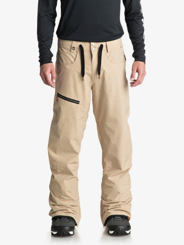 0 Forest Oak - Shell Snow Pants for Men Beige EQYTP03084 Quiksilver