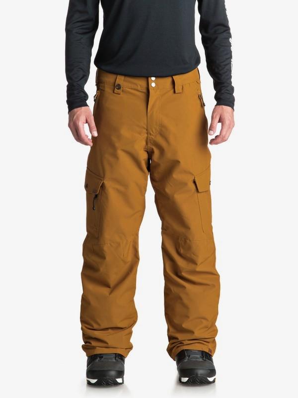 0 Сноубордические штаны Porter Коричневый EQYTP03087 Quiksilver