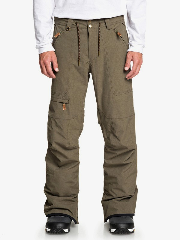 0 Elmwood - Snow Pants for Men Brown EQYTP03132 Quiksilver