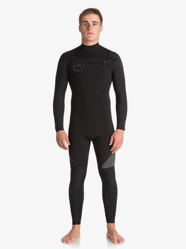 0 3/2mm Syncro Series - Chest Zip GBS Wetsuit for Men Black EQYW103038 Quiksilver