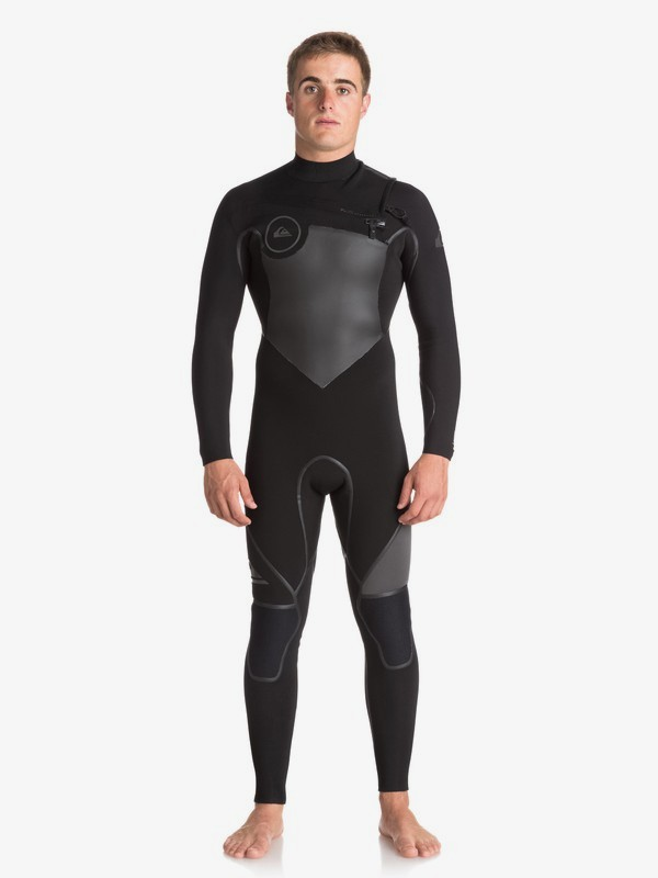 0 5/4/3mm Syncro Plus - Chest Zip Wetsuit for Men Black EQYW103046 Quiksilver