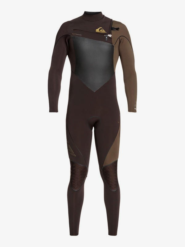 0 3/2mm Highline Plus - Chest Zip Wetsuit Brown EQYW103060 Quiksilver