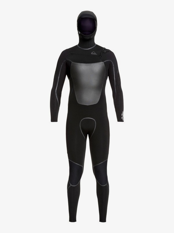 0 5/4/3mm Syncro Plus - Hooded Chest Zip Wetsuit for Men Black EQYW203013 Quiksilver