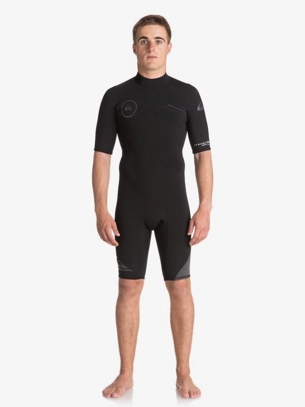 0 2/2mm Syncro Series - Traje de surf de primavera FLT con manga corta y cremallera en la espalda para Hombre Negro EQYW503006 Quiksilver