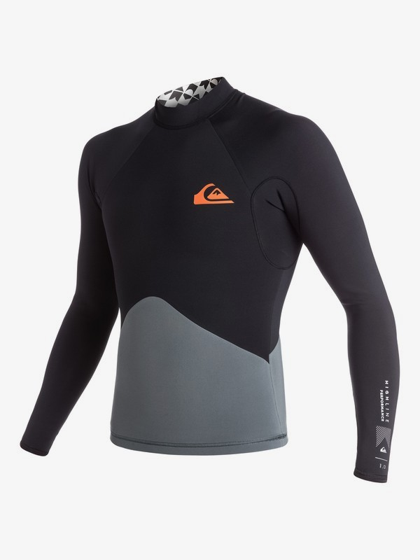 0 1mm Highline Performance - Long Sleeve Neoprene Top for Men Black EQYW803000 Quiksilver