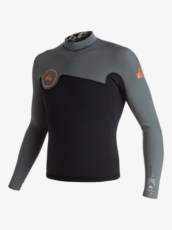 0 Highline Performance 2mm - Long Sleeve Neo Top Orange EQYW803002 Quiksilver