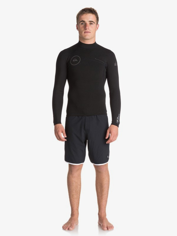 0 1.5mm Syncro Series - 1/4 Back Zip FLT Wetsuit Top for Men  EQYW803011 Quiksilver