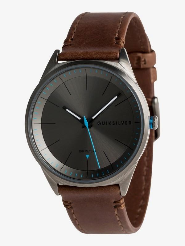 0 Bienville Leather - Reloj Analógico para Hombre Negro EQYWA03014 Quiksilver