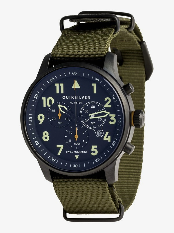 0 Seafire Nato - Reloj Analógico para Hombre Verde EQYWA03016 Quiksilver