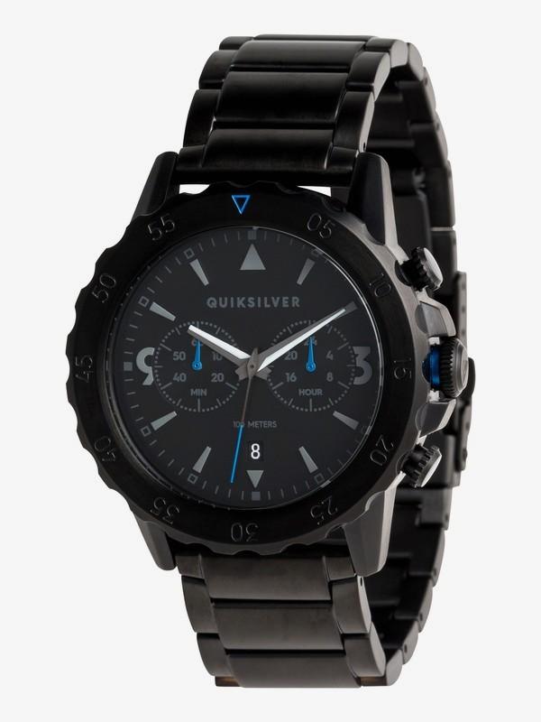 0 Kombat Chrono Metal - Reloj Analógico para Hombre Negro EQYWA03021 Quiksilver