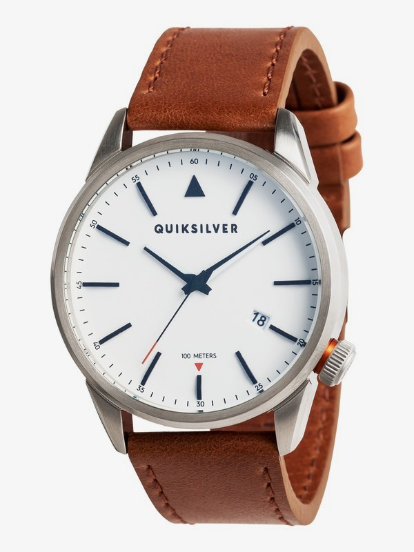 0 The Timebox 42 Leather - Reloj Analógico para Hombre Gris EQYWA03027 Quiksilver