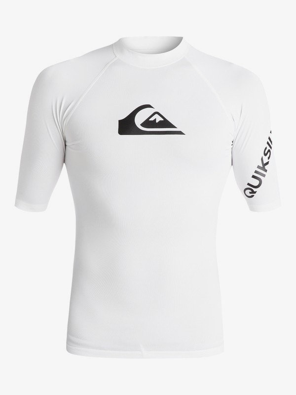 0 All Time - Short Sleeve UPF 50 Rash Vest for Men White EQYWR03136 Quiksilver