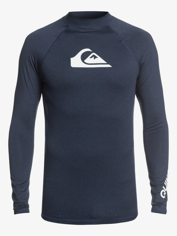 0 All Time - Long Sleeve UPF 50 Rash Vest for Men Blue EQYWR03137 Quiksilver