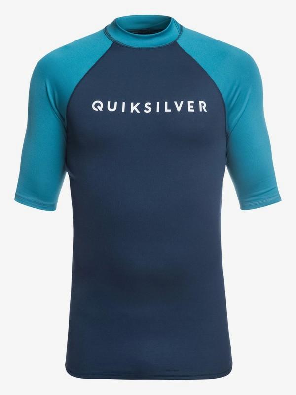 0 Always There - Short Sleeve UPF 50 Rash Vest for Men Blue EQYWR03142 Quiksilver