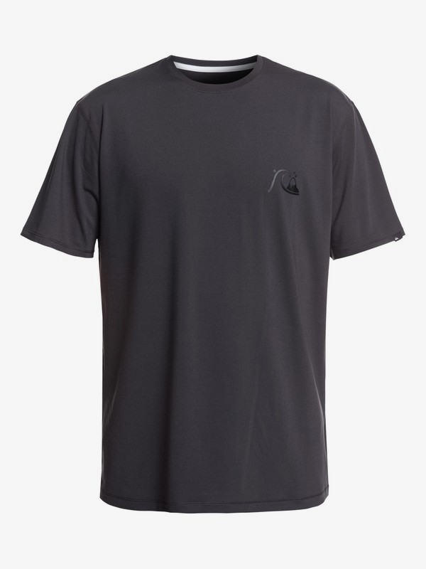 0 Bubble Logo - Short Sleeve UPF 50 Surf T-Shirt for Men Black EQYWR03151 Quiksilver