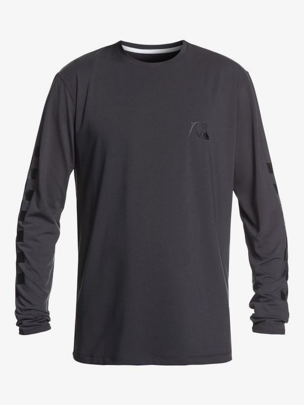 0 Turbo - Camiseta de Surf de Manga Larga con UPF 50 para Hombre Negro EQYWR03152 Quiksilver
