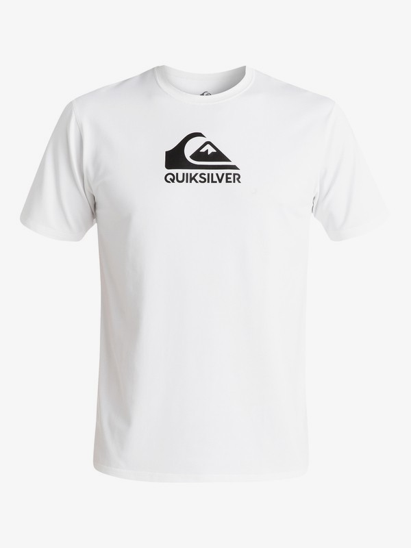 0 Solid Streak Ls - Short Sleeve UPF 50 Surf T-Shirt for Men White EQYWR03159 Quiksilver