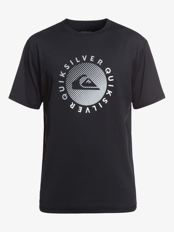 0 Razors - Short Sleeve UPF 50 Surf T-Shirt for Men Black EQYWR03166 Quiksilver