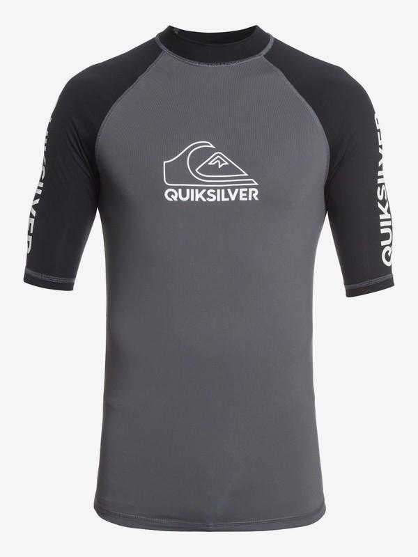 0 On Tour - Short Sleeve UPF 50 Rash Vest for Men Black EQYWR03217 Quiksilver