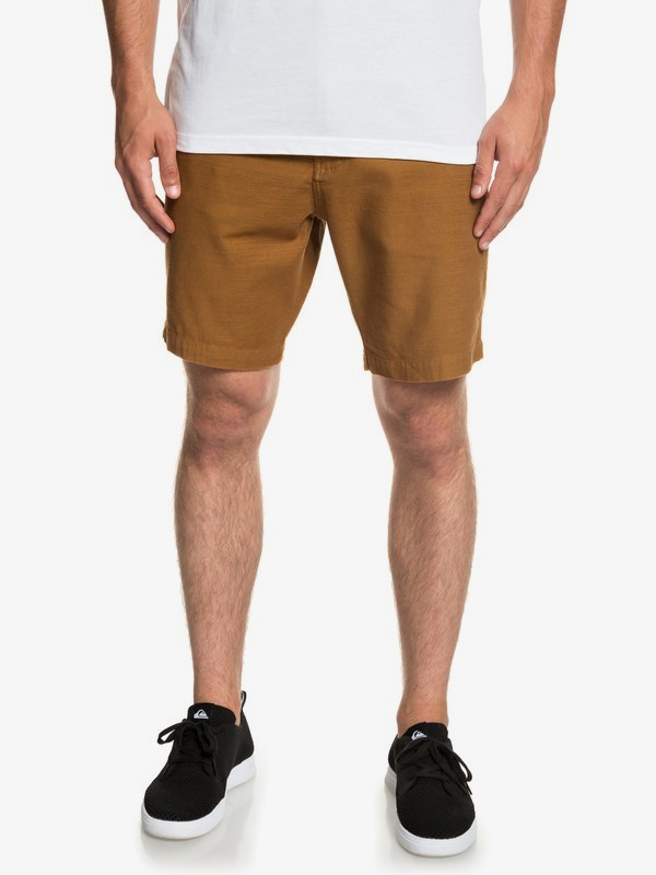 0 Mitake - Fatigue Shorts for Men Brown EQYWS03576 Quiksilver