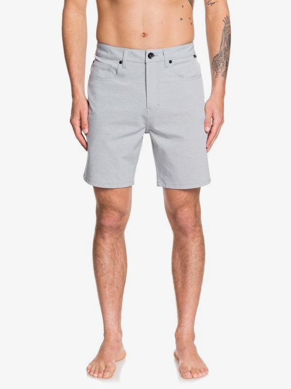 "0 Nelson 18"" - Amphibian Board Shorts for Men Grey EQYWS03621 Quiksilver"