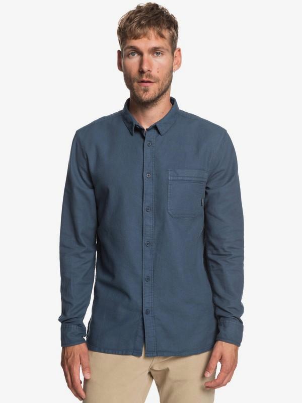 0 Time Box - Camisa de Manga Larga para Hombre Azul EQYWT03788 Quiksilver