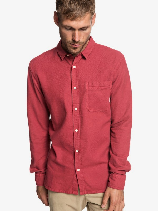 0 Time Box - Camisa de Manga Larga para Hombre Rojo EQYWT03788 Quiksilver