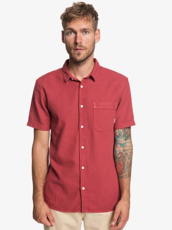0 Time Box - Camisa de Manga Corta para Hombre Rojo EQYWT03789 Quiksilver