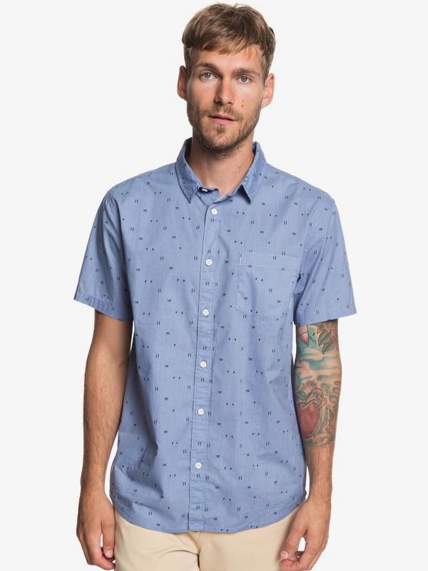 0 Рубашка с коротким рукавом Rock The Road Синий EQYWT03792 Quiksilver