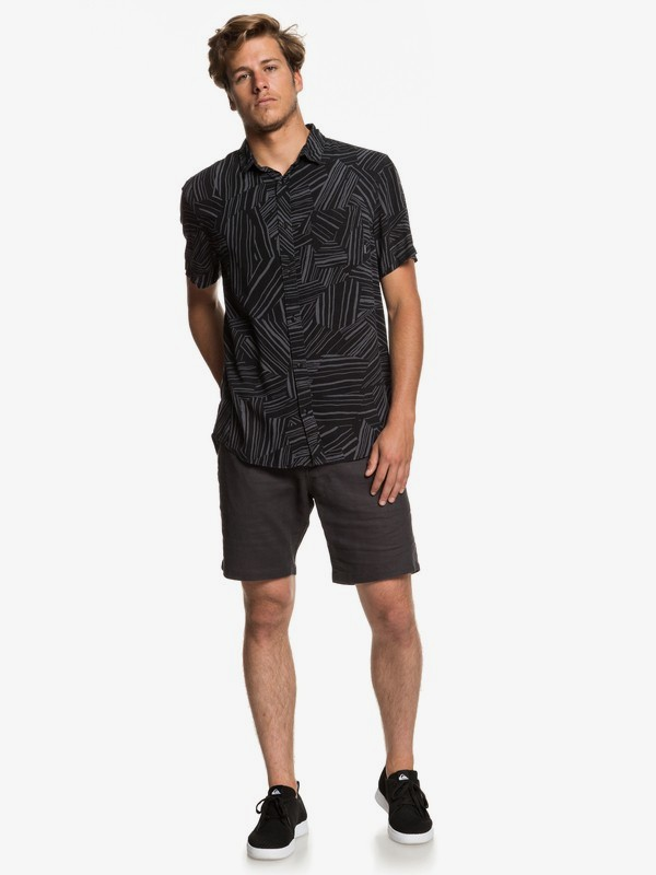 Fluid Geometric - Short Sleeve Shirt for Men  EQYWT03798