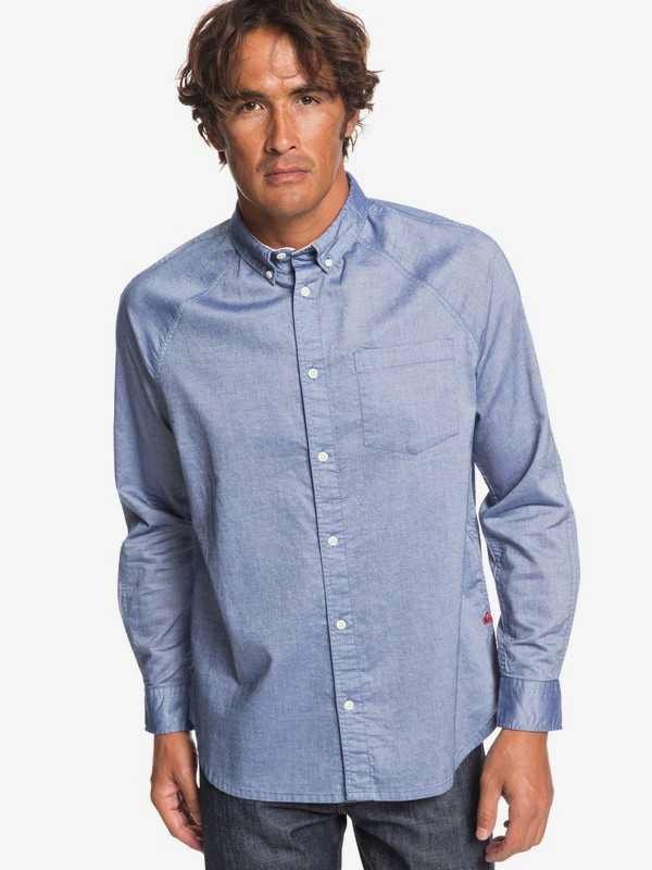 0 Agora - Long Sleeve Shirt for Men Blue EQYWT03807 Quiksilver