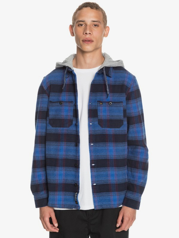Chain Rails - Long Sleeve Hooded Shirt for Men  EQYWT04017