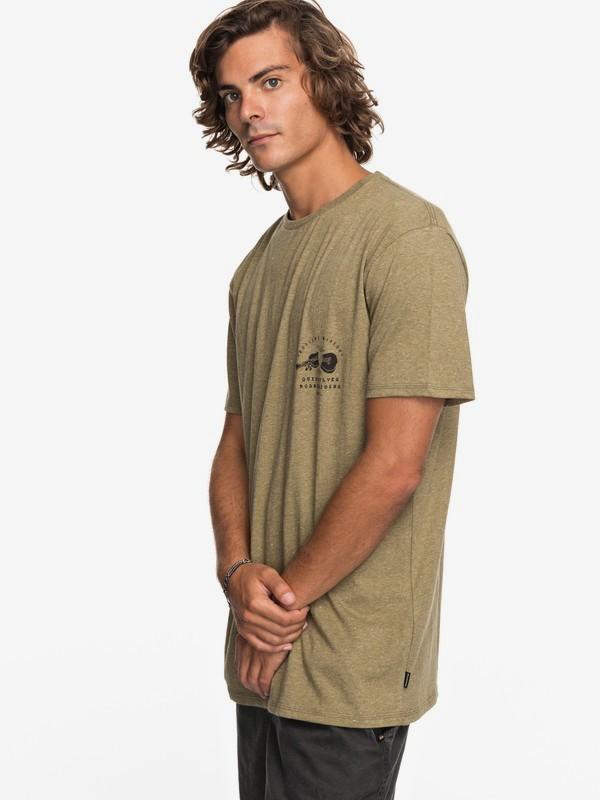 0 Organic Long Lost - Camiseta para Hombre Beige EQYZT04743 Quiksilver