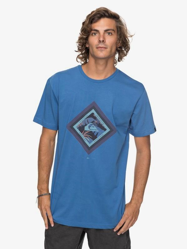 0 Футболка Classic Crimson Skyline Синий EQYZT04781 Quiksilver