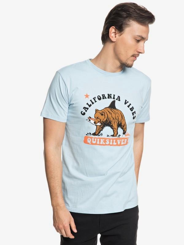 0 Bear Shark - T-shirt col rond pour Homme  EQYZT04963 Quiksilver