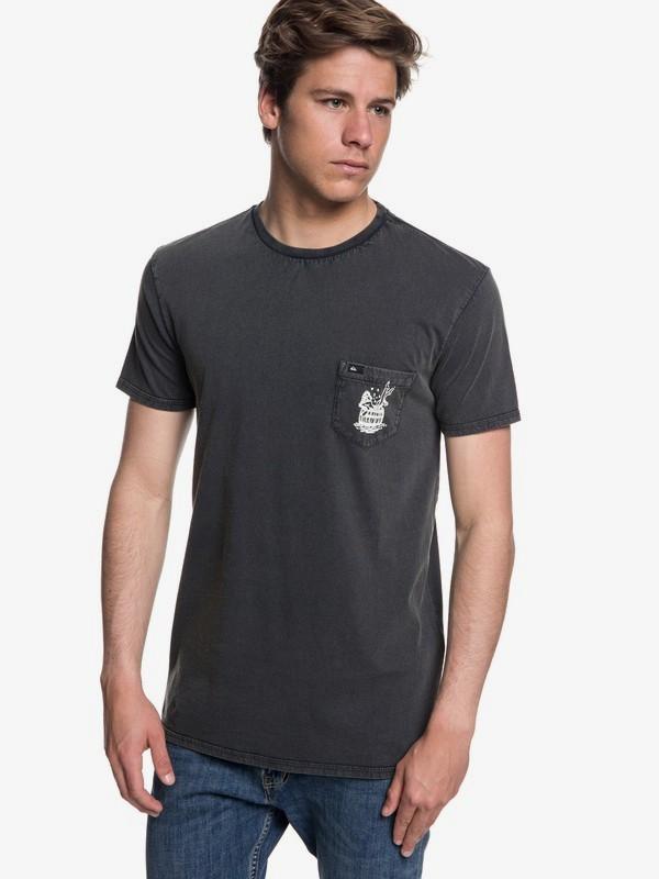 0 Gettin Barreled - T-shirt col rond pour Homme Noir EQYZT05001 Quiksilver