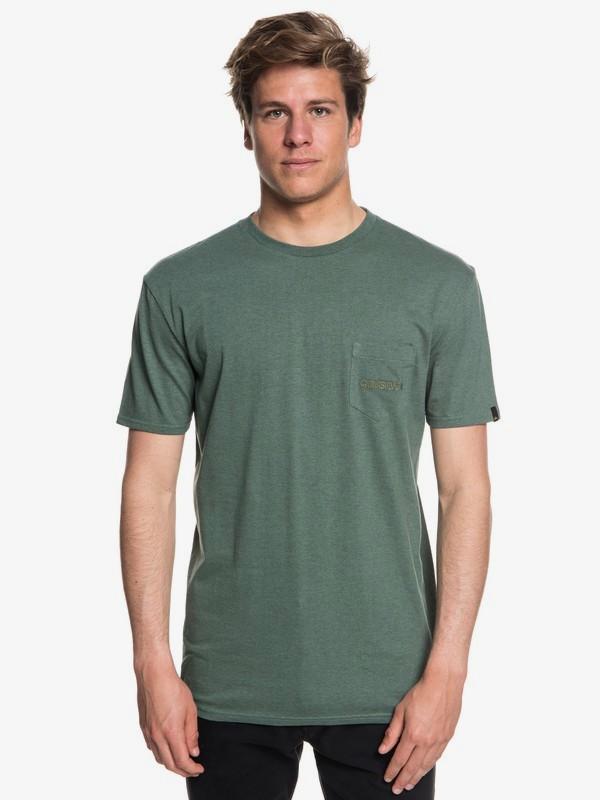 0 The Stitch Up - Maglietta con tasca da Uomo  EQYZT05004 Quiksilver