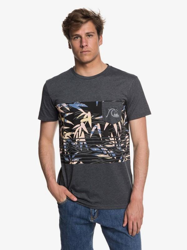 0 Silent Furry - Camiseta con bolsillo para Hombre  EQYZT05006 Quiksilver