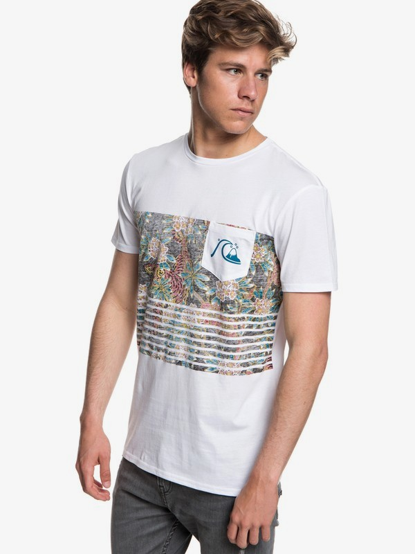 0 Silent Furry - Pocket T-Shirt for Men White EQYZT05006 Quiksilver